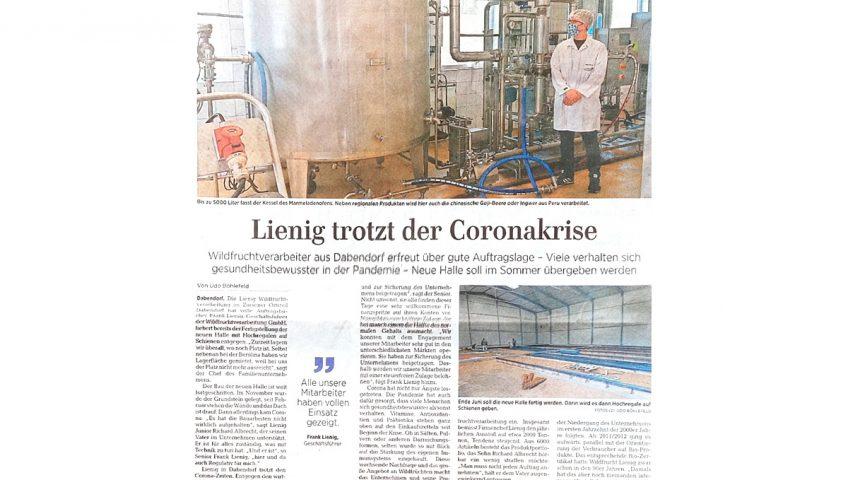 Zossener Rundschau Lienig Wildfruchtverarbeitung Brandenburg